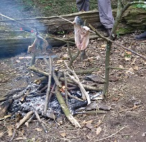 Cooking Trout.Bushcraft